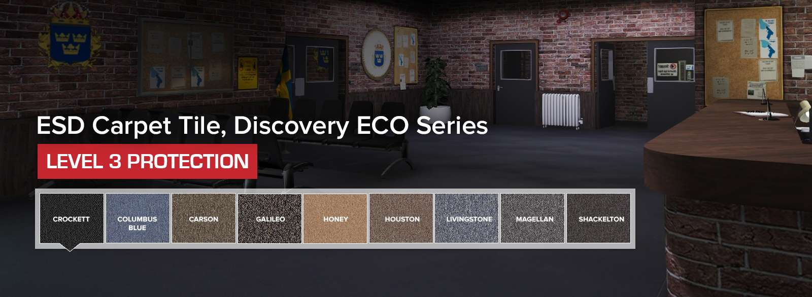 ESD Carpet Tile Discovery ECO Series